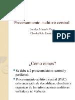 Procesamiento Auditivo Central