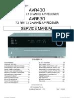 47167240 Harman Kardon Service Manual for AVR 430 and AVR 630 Receivers