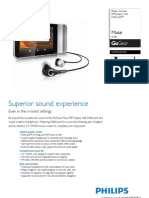 Leaflet Philips GoGear Muse 2011 Eng