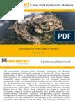 Monument Mining Investor Presentation Nov 2010