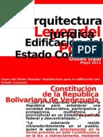 LEYES DEL PODER POPULAR Arquitectura jurídica del Estado Comunal