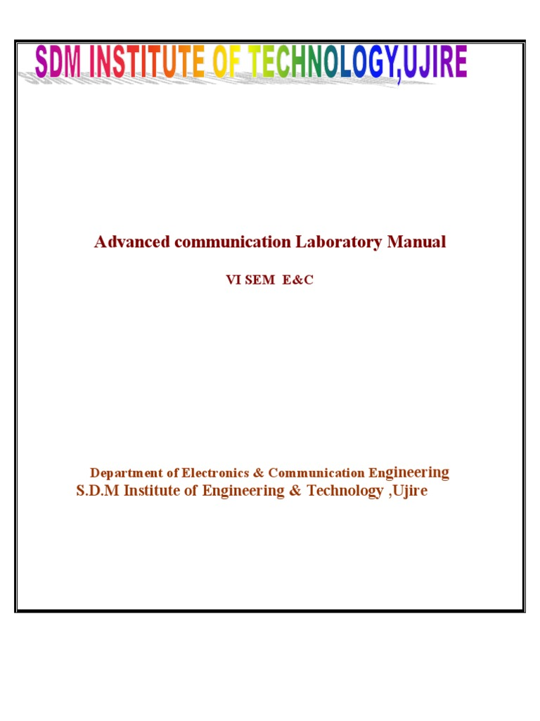 new advanced communication laboratory manual modulation antenna rh fr scribd com advanced communication lab manual for 6th sem ece vtu advanced digital communication lab manual with matlab