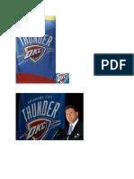 OKC Thunder first team photos in team history