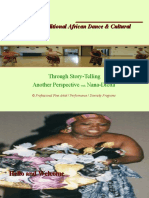 Di-Aspect of Traditional African Dance Performing Art Program Pictorial Metaphor