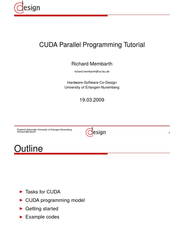 CUDA Parallel Programming Tutorial | Source Code | Thread