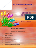 Ethics in Education Nair