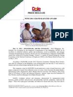 Dolefil PR-Grand Kapatid Award 2011