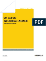 C11 and C13 Industrial Engines-Maintenance Intervals