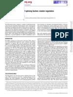 The SR Protein Family of Splicing Factors Master Regulators