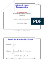 Applications Linear Programming