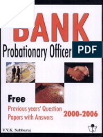 Bank Probationary Officers' Exam by v.v.K. Subburaj