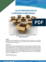 MANUAL DE PREPARACIÓN DE CONTENIDO PUBLICITARIO