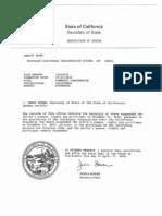 Certification of MERS LIC Suspend in Calif.