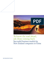 Successful Business Models for New Zealand Companies in China 2010