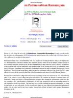 Ramanujam Biography