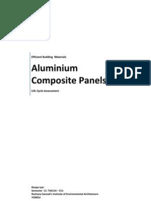LCA of Aluminum Composite Panels   Aluminium Foil   Polyethylene