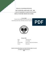 Peramalan Komposisi Penduduk Menurut Jenis Kelamin Tahun 1997 – 2003 di Kecamatan Kradenan Kabupaten Blora Dengan Metode Trend Non Linier