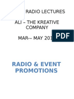Radio & Event Promotions