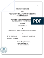 Project Report(Energy Scavenging from Vibrations)