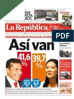 Encuesta Imasen 15052011 La Republica Perú