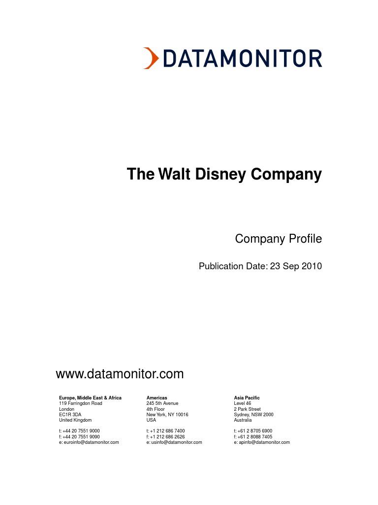walt disney swot analysis 2010