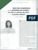 Management des compétences et organisation par projets, une mise en évidence des leviers de gestion