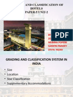 Grading and Classification of Hotels