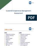 Customer Experience Management Assessment [K