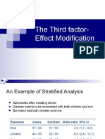 Third Factor- Effect Modification EXERCISES