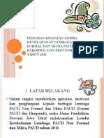 Pedoman Kegiatan Lomba Keteladanan Lembaga PAUD Dan Mitra PAUD 2011