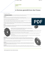 Formas geométricas das fresas