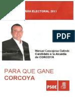 Programa Electoral de CORCOYA