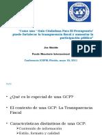 Como una Guía Ciudadana Para El Presupuesto· puede fortalecer la transparencia fiscal y aumentar la participación públicaµ