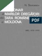 Dictionar al marilor dregatori din Tara Româneasca si Moldova