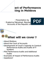 The Impact of Performance Auditing in Moldova May 2011