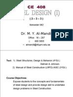 Steel Design CE 408