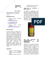 Universidad Del Valle Informe Ex Tint Ores