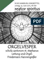 Orgelvesper Christuskirche 13.06.2011 Programm