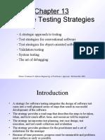 Pressman Ch 13 Software Testing Strategies