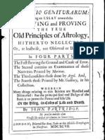 John Partridge Defectio Geniturarum