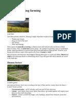 Factors Affecting Farming