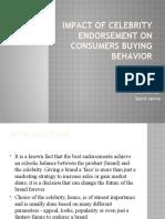 Impact of Celebrity Endorsement on Consumers Buying Behavior
