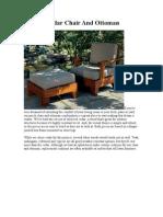 Build a Cedar Chair and Ottoman