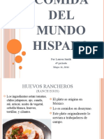 La Comida Del Mundo Hispano -- Spanish 2 Project