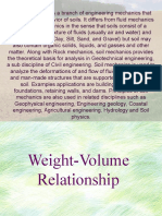 Weight Volume Relationship
