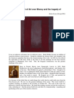 Rothko – Triumph of Art over Money and the tragedy of humanity