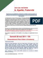 Face Au Racisme Liberté Égalité Fraternité Manif 280511
