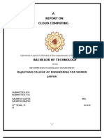 Report Cloud Computing
