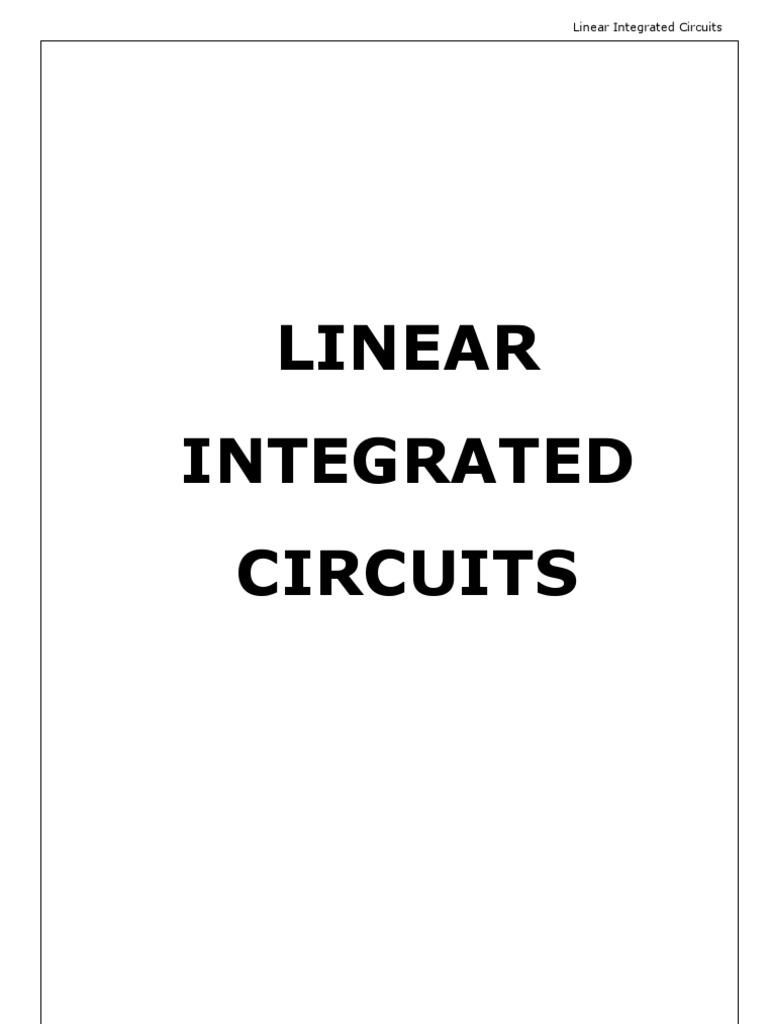 linear integrated ciruits 2 marks question bank iv sem ecelinear integrated ciruits 2 marks question bank iv sem ece operational amplifier analog to digital converter