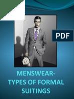 Menswear - Types of Formal Suitings